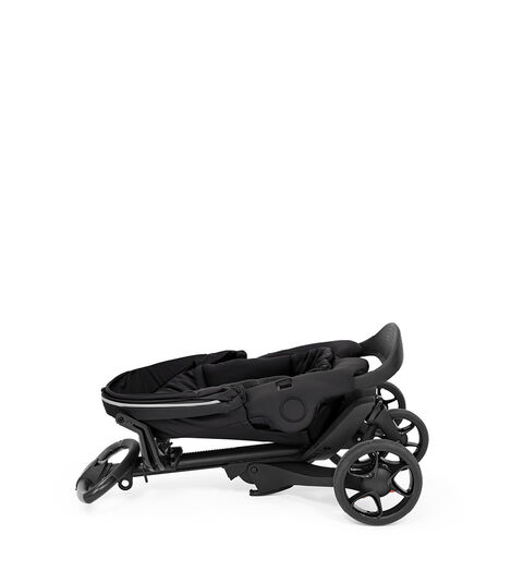 Stokke® Xplory® X Rich Black. Folded Stroller with Seat. view 10