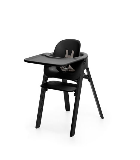 Stokke® Steps™ Beech Black with Baby Set Tray, Black. Accessories. view 5