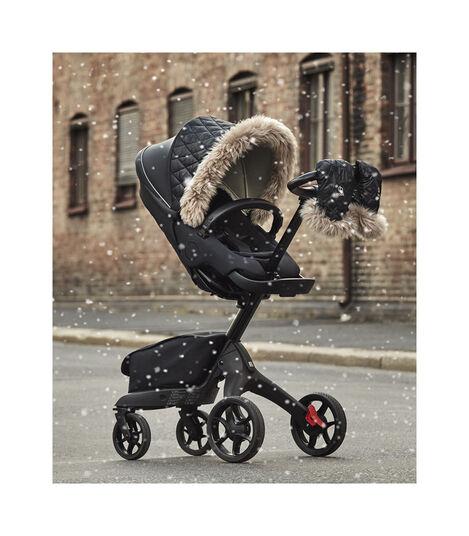 Stokke® Xplory® X Winter Kit Black in use on Seat, Rich Black. view 2