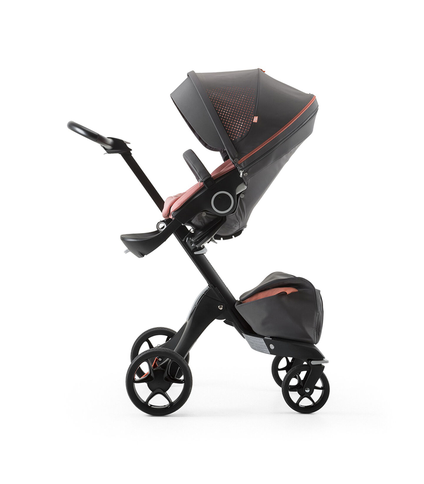 Stokke® Xplory® Black Chassis and Seat. Athleisure Coral.