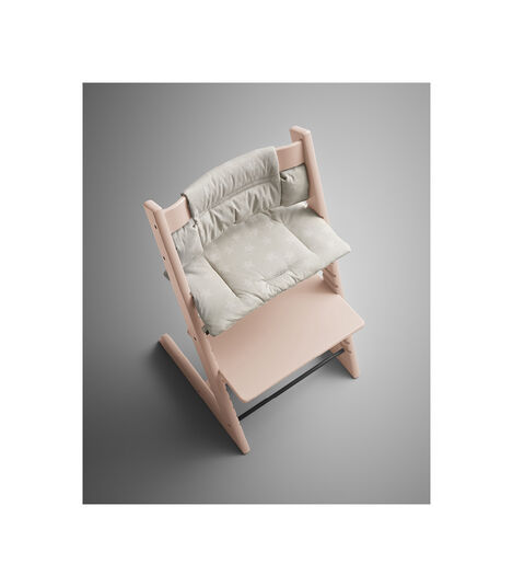 Tripp Trapp® Serene Pink with Classic Cushion Star Silver. Styled. view 3