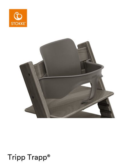 Tripp Trapp® Chair Hazy Grey with Baby Set. Close-up. view 6