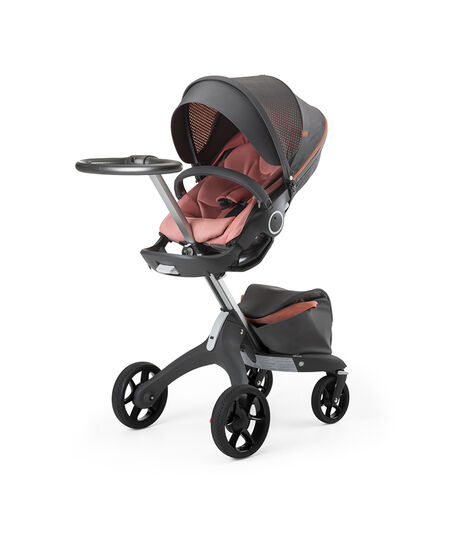 Stokke® Xplory® Silver Chassis and Seat. Athleisure Coral. view 5