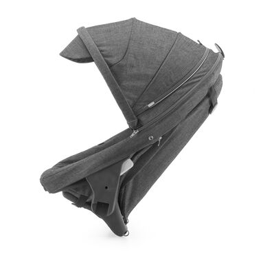 Stokke® Crusi™ Sibling Seat and sparepart seat for Stokke® Scoot™. Black Melange.