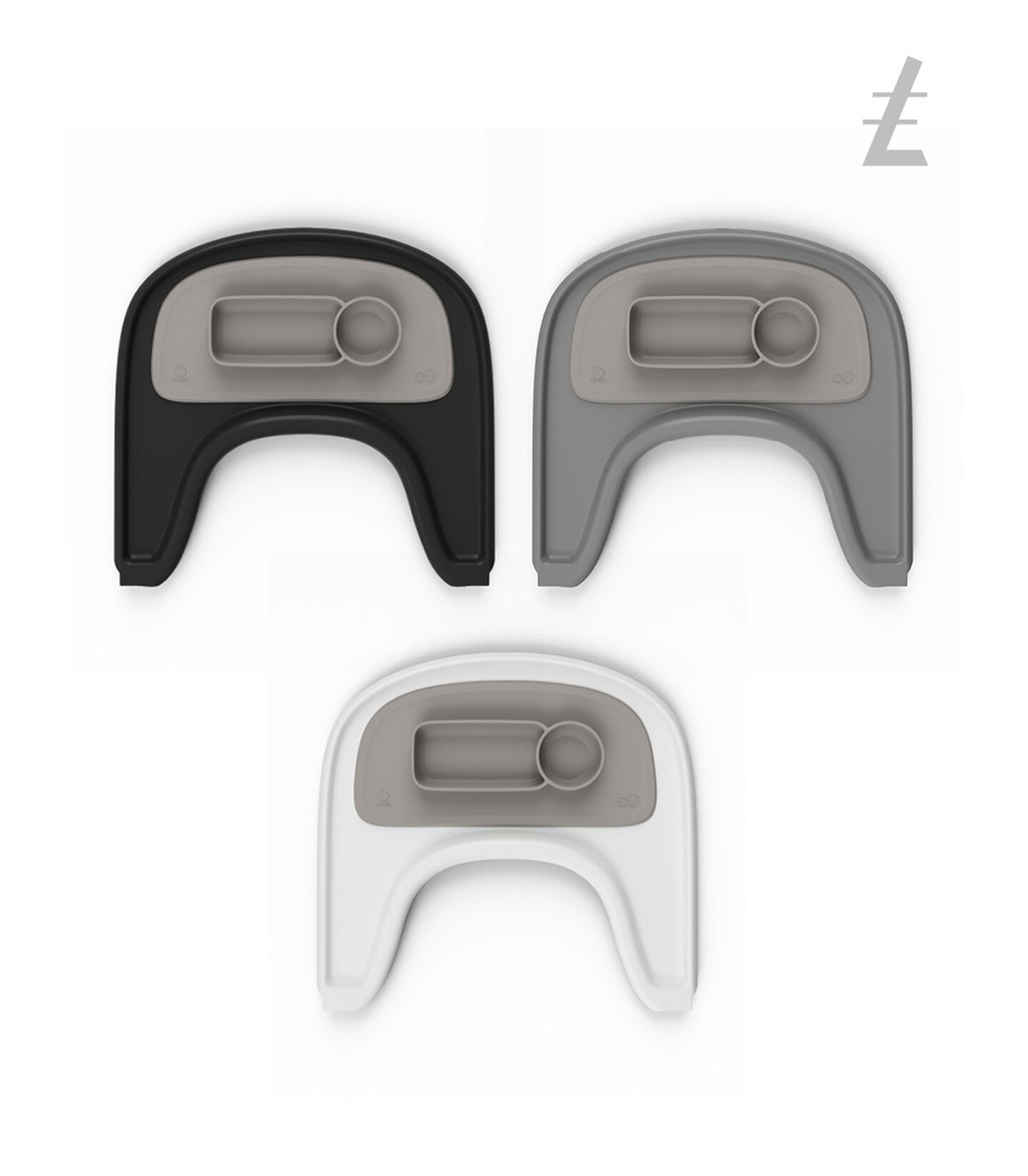 ezpz™ by Stokke™ placemat for Stokke® Tray Soft Grey, Grigio Soft, mainview view 4