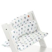 Tripp Trapp® White with Aqua Star cushion. Detail.
