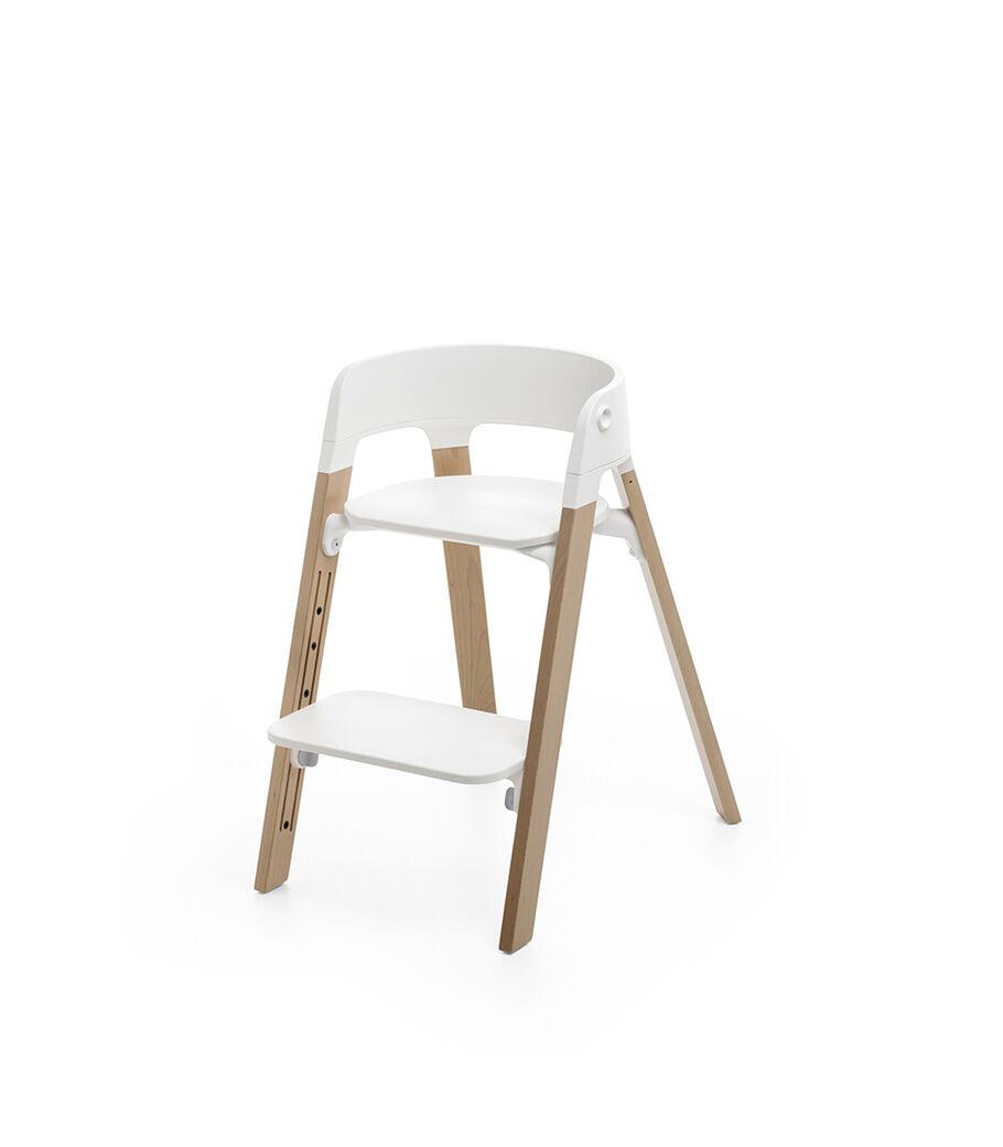 Stokke® Steps™ Stoel, White/Natural Oak, mainview