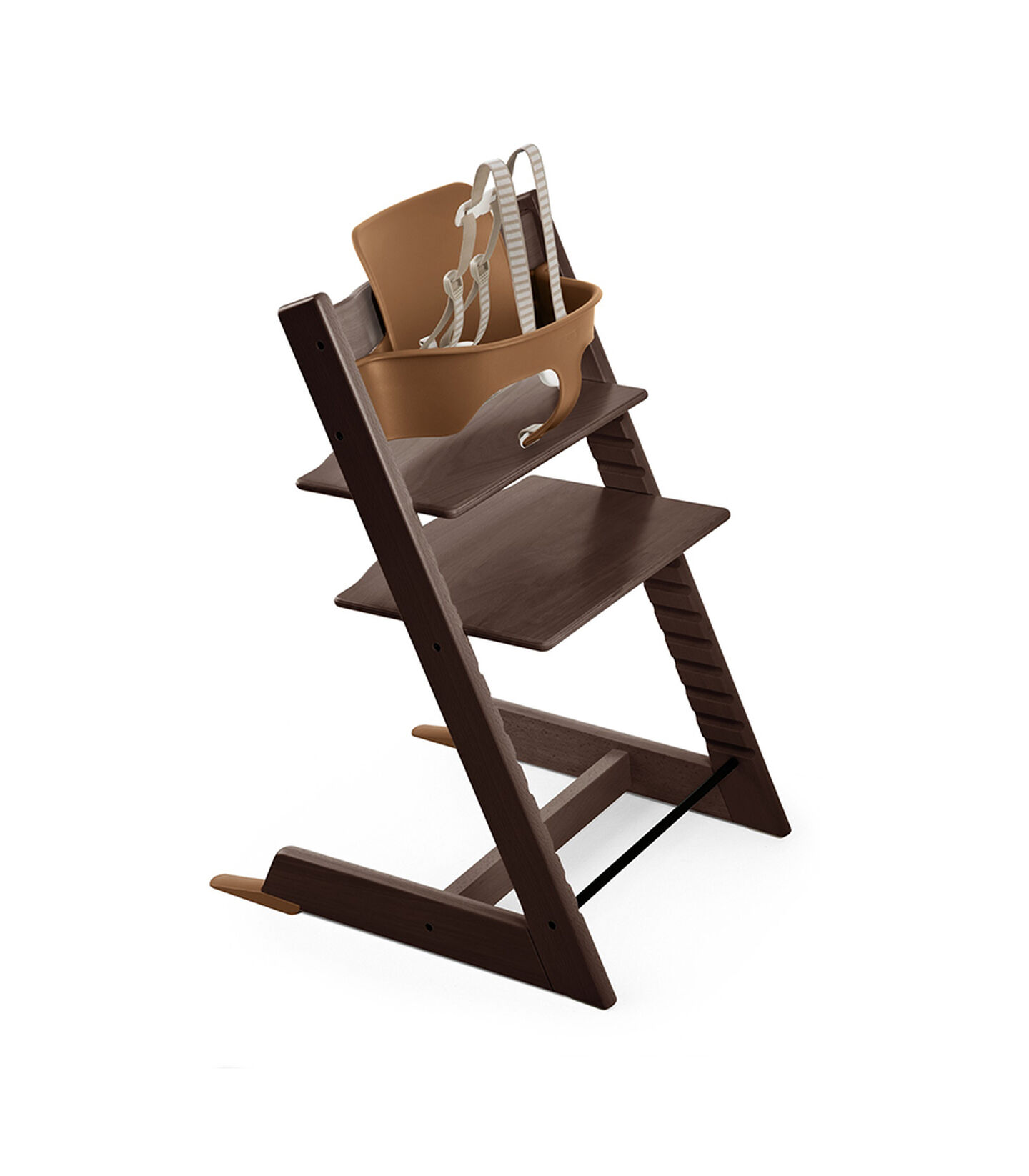 Tripp Trapp® Natural with Tripp Trapp® Baby Set, Walnut Brown. USA version.