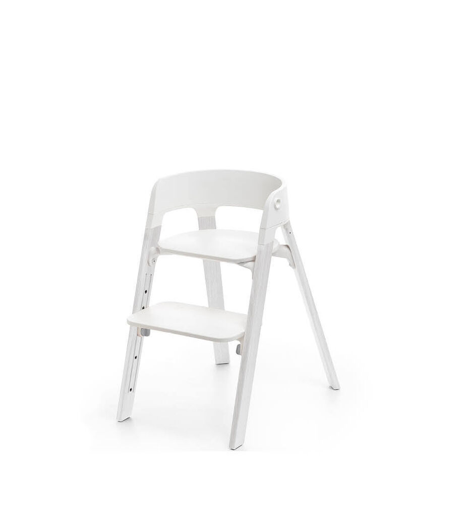 Stokke® Steps™ Oak White. White plastic parts.