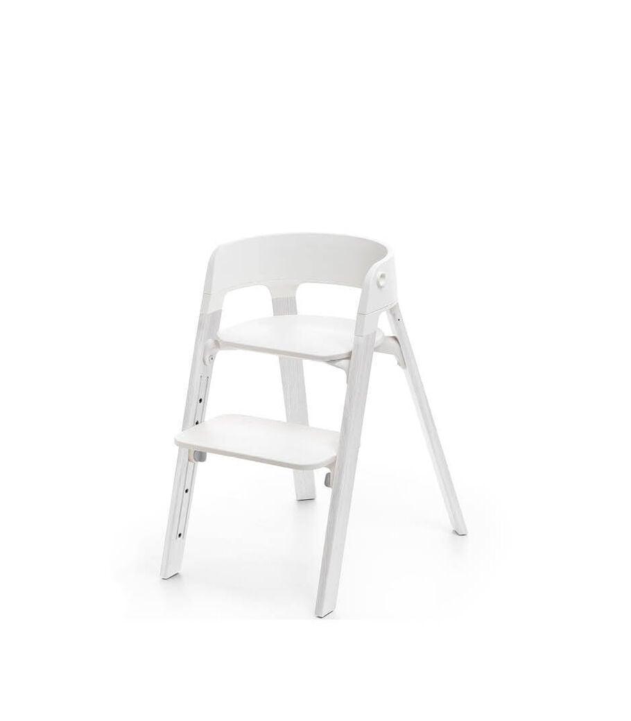 Stokke® Steps™ Oak White. White plastic parts.