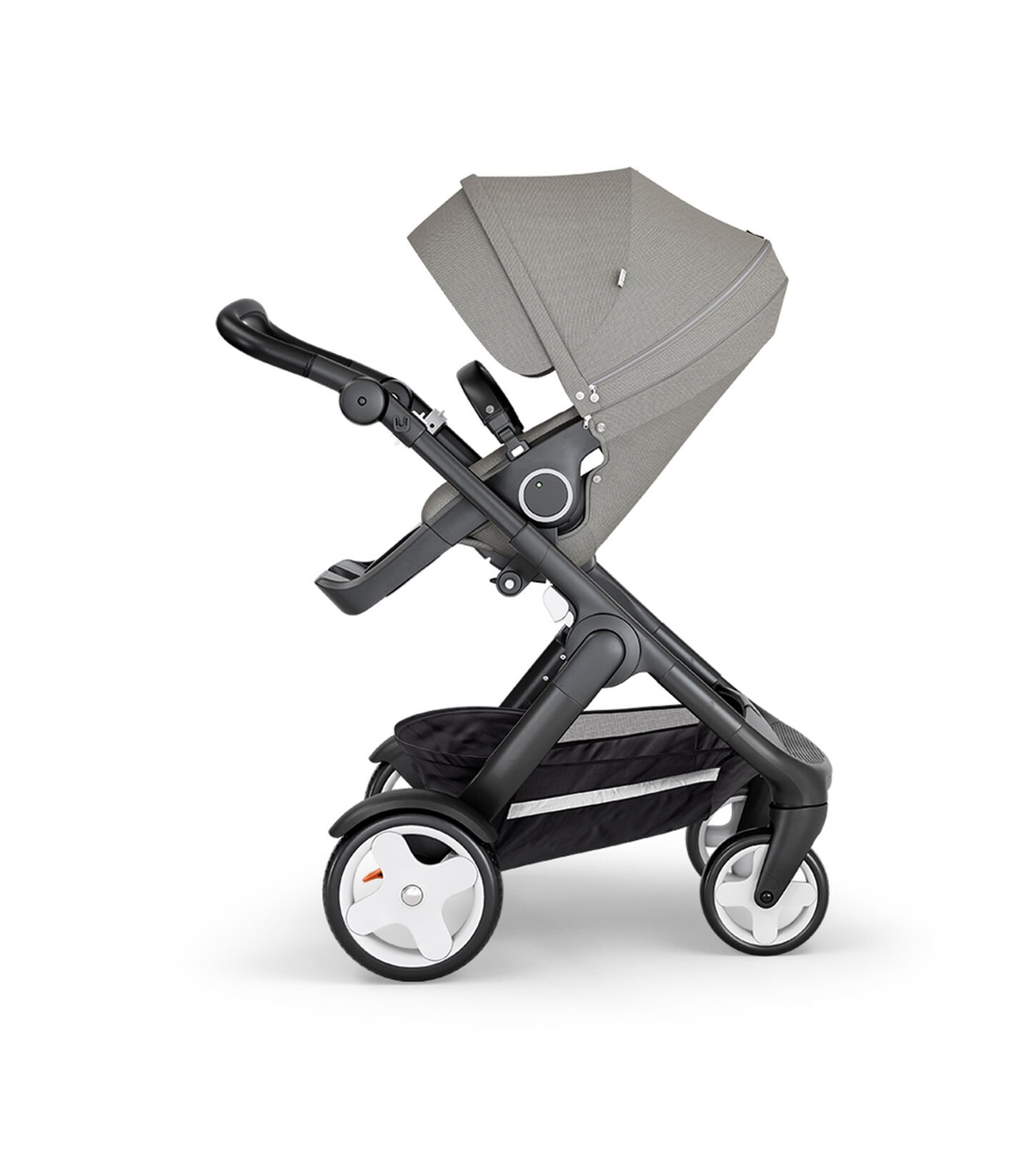 Stokke® Trailz™ Classic Black with Black Handle Brushed Grey, Gris, mainview view 1