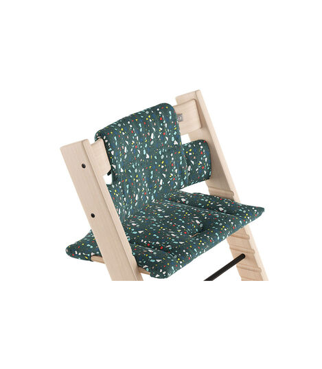 Tripp Trapp® Natural with Classic Cushion Terrazzo Petrol.  view 3