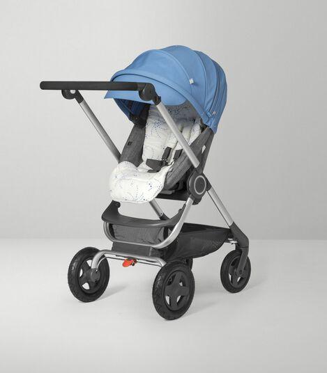 Stokke Scoot™ Seat.Black Melange/Blue. Active position.