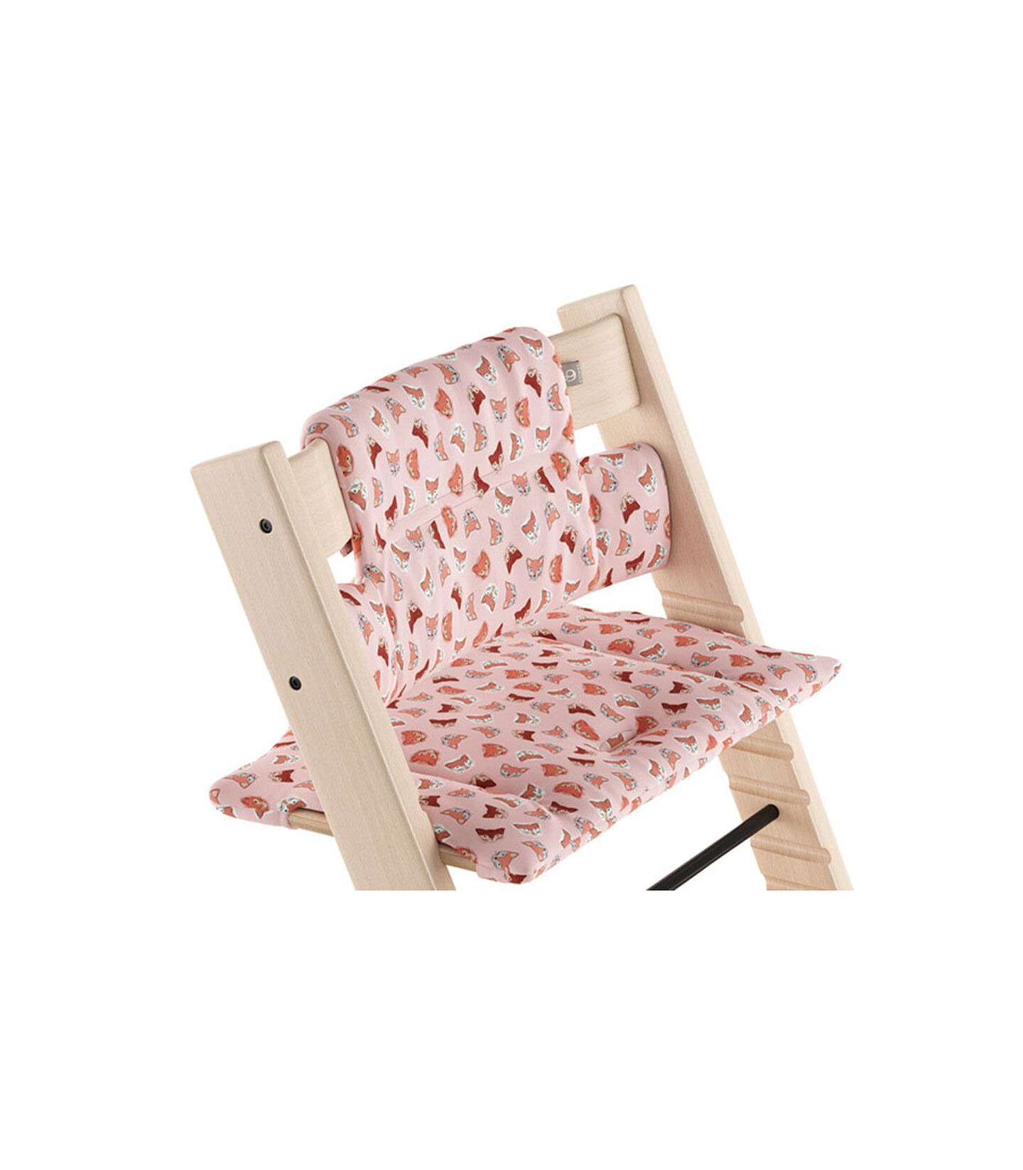 Tripp Trapp® Natural with Classic Cushion Pink Fox.  view 1