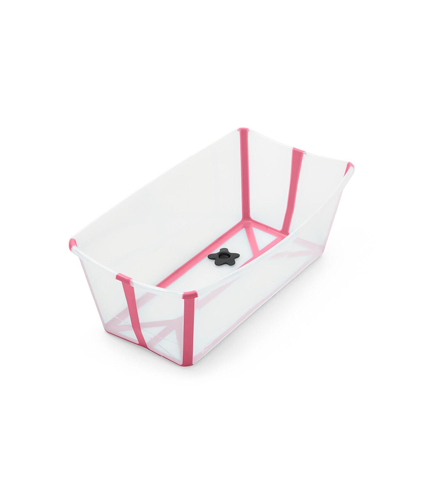 Stokke® Flexi Bath® bath tub, Transparent Pink. Open. view 2