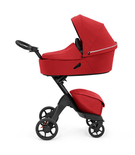 Stokke® Xplory® X Ruby Red Stroller with Carry Cot. view 3
