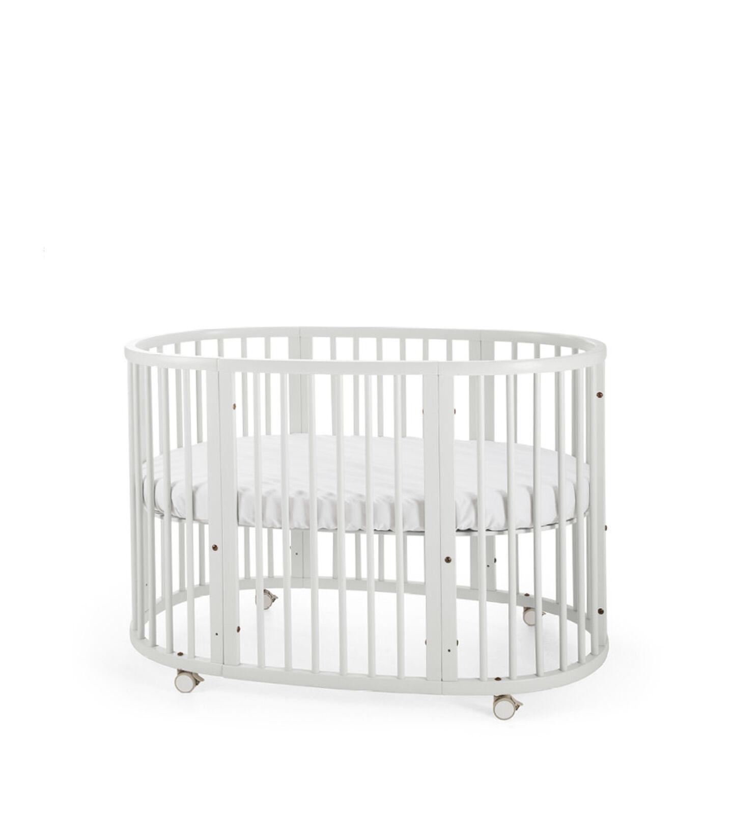 Stokke® Sleepi™ Bed. White. Mattress high. view 2