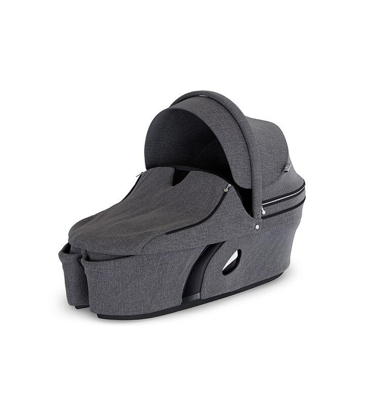 Stokke® Xplory® Carry Cot Complete Black Melange, Black Melange, mainview view 1
