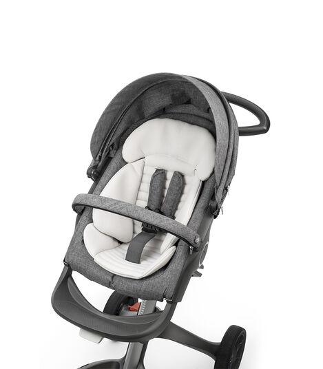 Stokke® kinderwagen inlay voor zitje in kleur Grey, Grey, mainview view 3