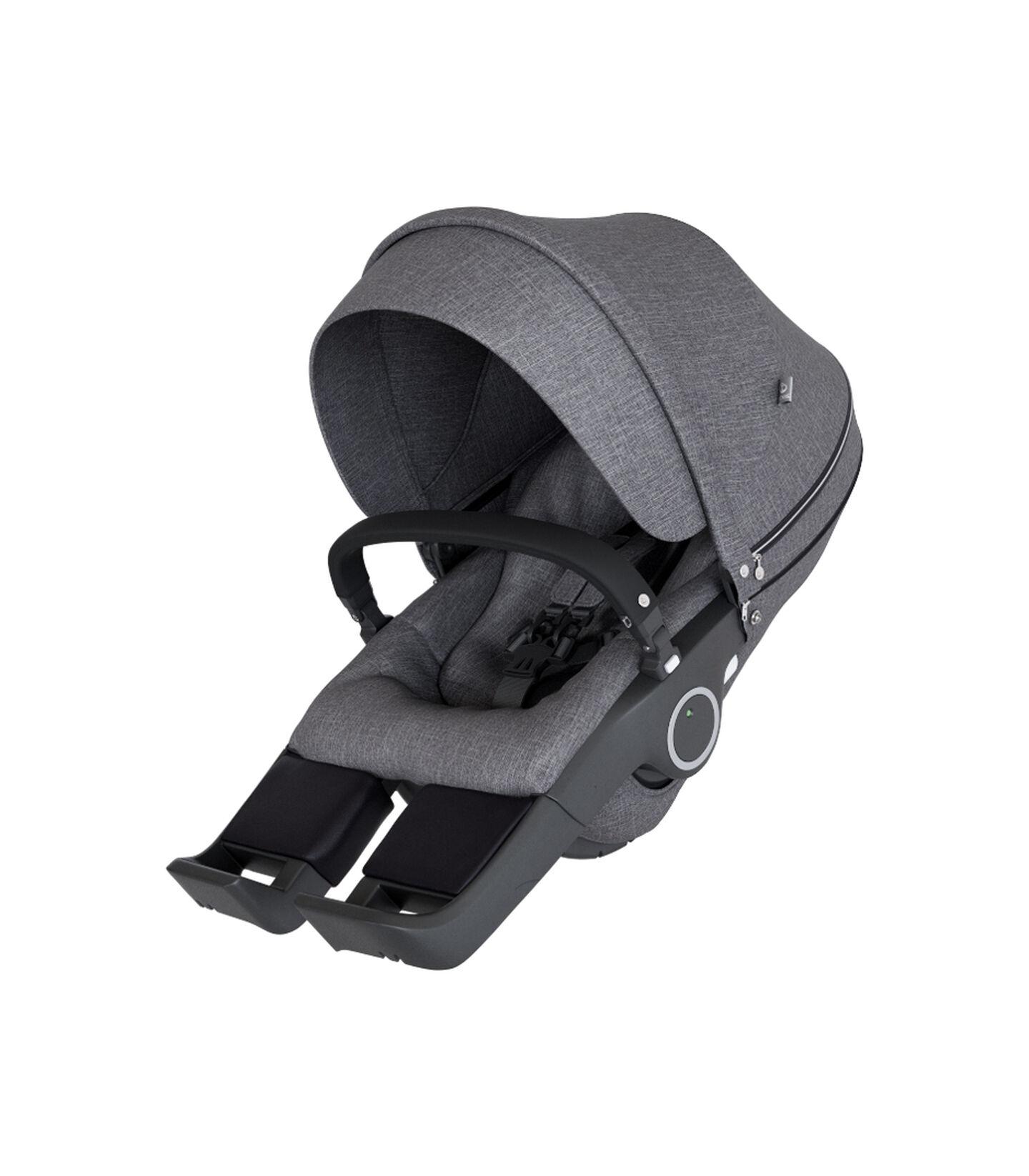 Stokke® Stroller Seat Black Melange, Black Melange, mainview view 2