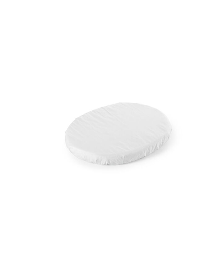Stokke® Sleepi™ Mini Fitted Sheet Blanc, Blanc, mainview view 1