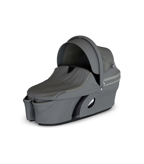 Stokke® Xplory® Carry Cot Athleisure Green. With Storm Cover. view 3