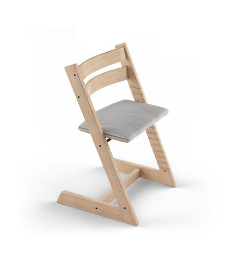 Tripp Trapp® Oak White with Adult Cushion Slate Twill. view 3