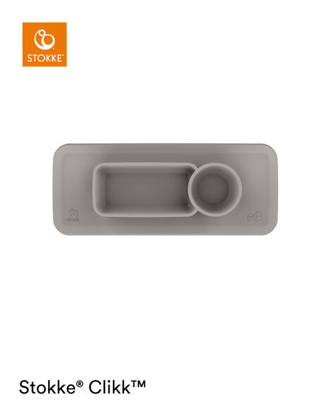ezpz™ by Stokke™ placemat for Clikk™ Tray Green, Soft Grey, mainview view 8
