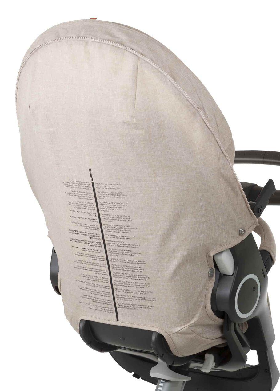 Stokke® Stroller Seat spare part. 179312 Stokke® Stroller Seat Rear Textile Cover Beige Melange.