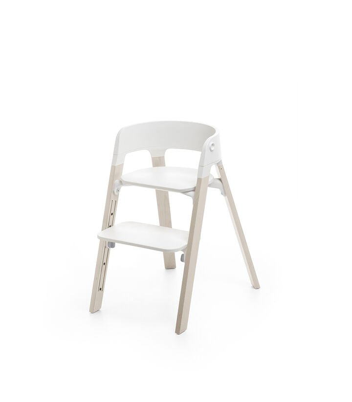 Stokke® Steps™ Chair, Whitewash, mainview view 1