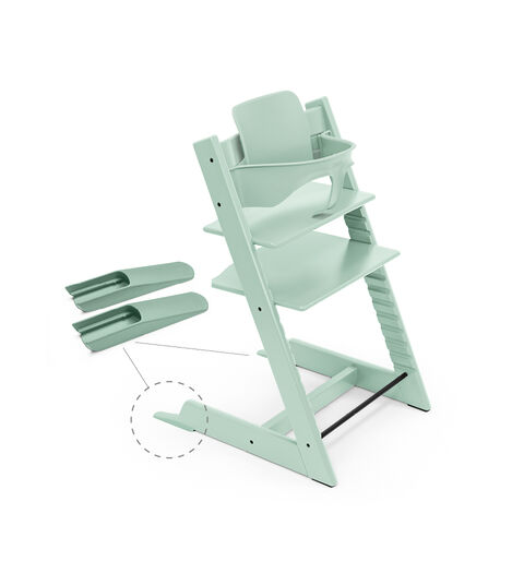Tripp Trapp® Chair Aqua Blue, Beech, with Baby Set. view 4