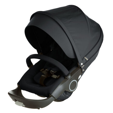Stokke® Xplory® & Crusi™ Seat Complete Black, Black, mainview view 3