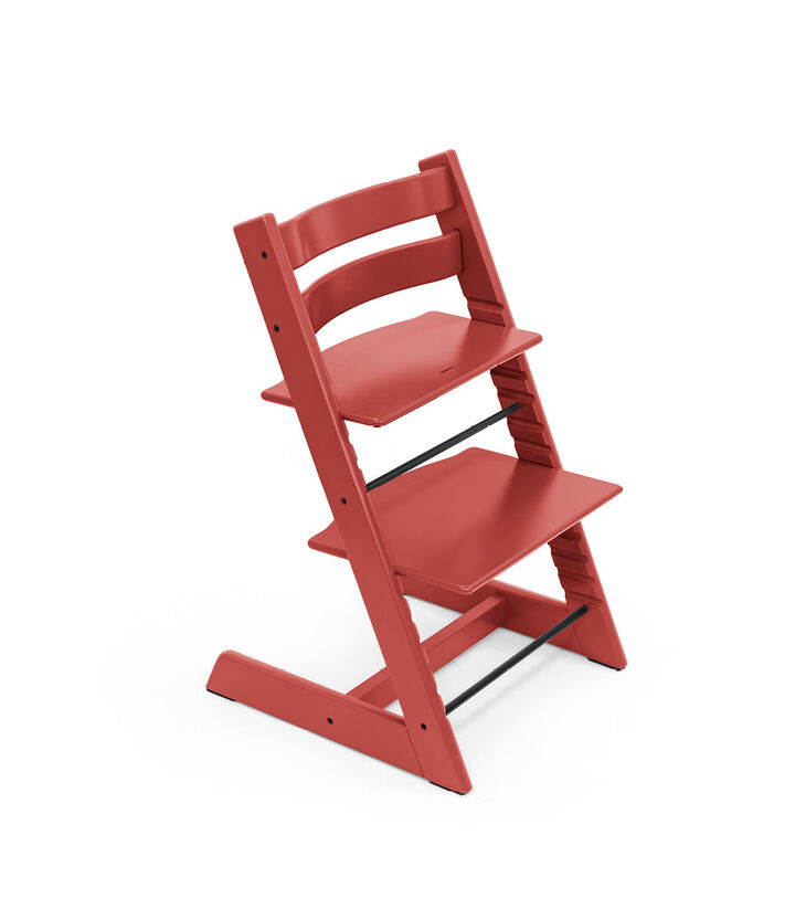 Tripp Trapp® chair Warm Red, Beech Wood.