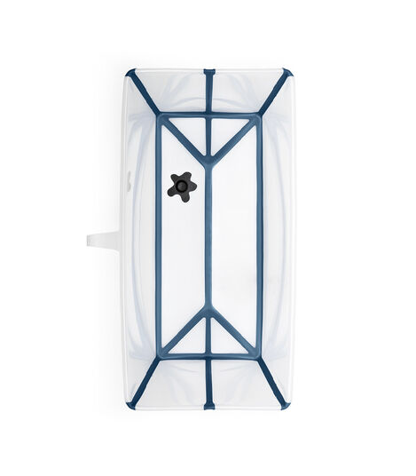 Stokke® Flexi Bath® bath tub, Transparent Blue. Open. view 6