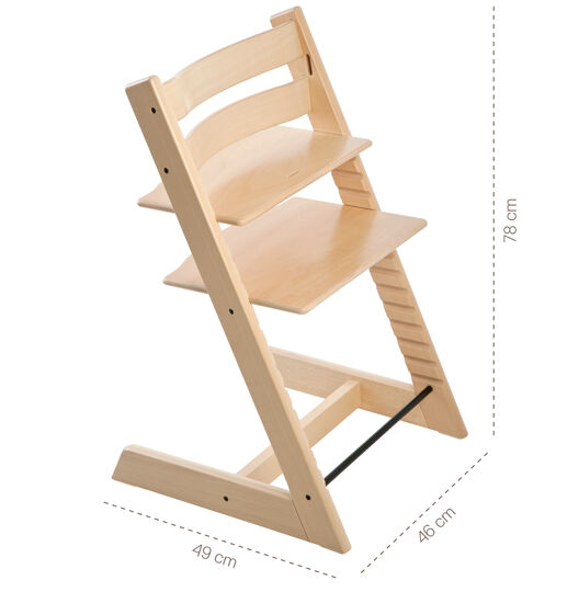 REBATE New Restaurant Style Wooden High Chair Natural Finish 2 PACK DEAL!