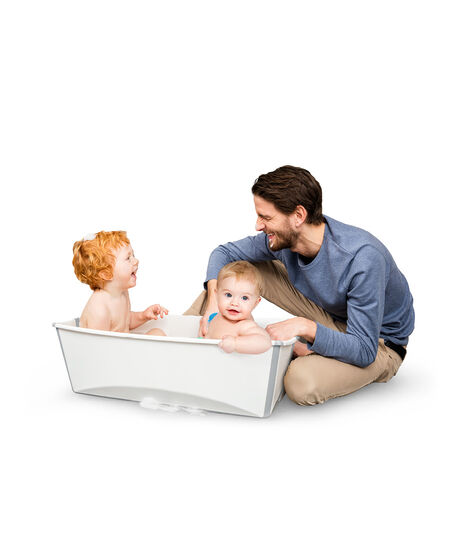 Stokke® Flexi Bath ® Large White Aqua, Transparent bleu, mainview view 3
