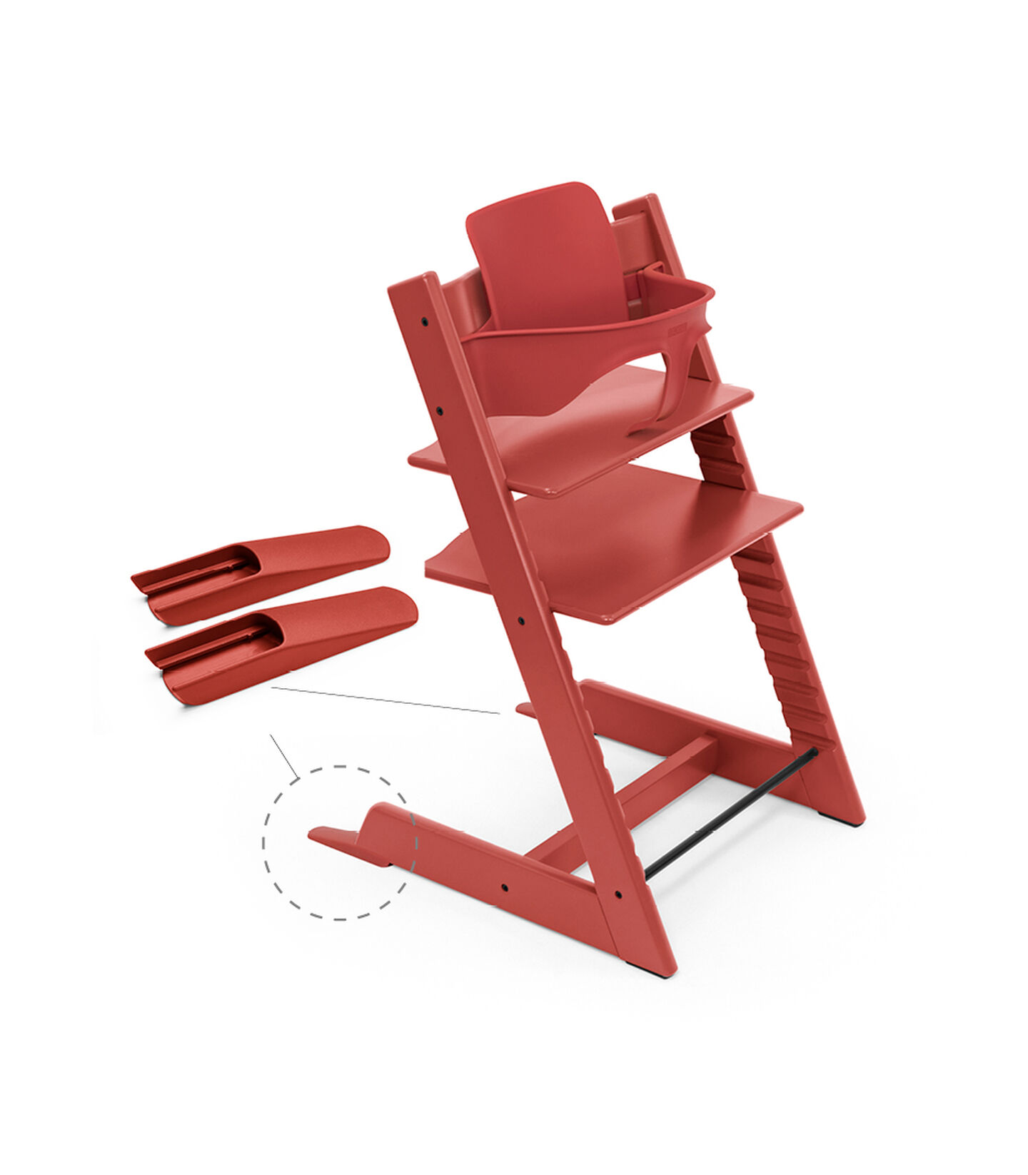 Tripp Trapp® Baby Set Rouge chaud, Rouge chaud, mainview view 4