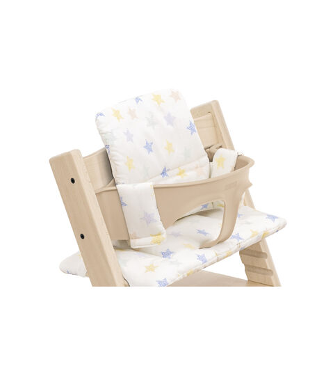 Tripp Trapp® High Chair Natural with Baby Set and Classic Cushion Stars Multi. Detail. view 5