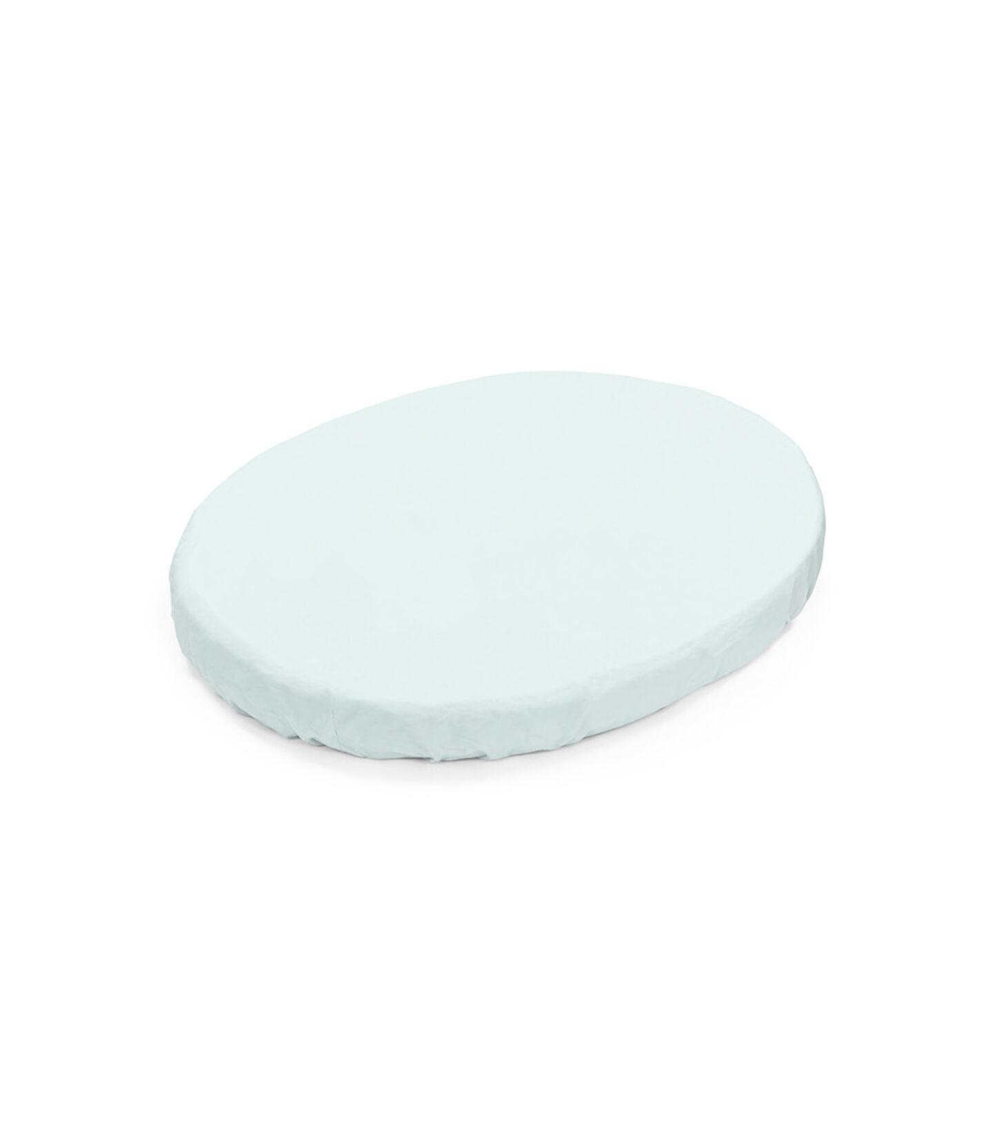 Stokke® Sleepi™ Mini Formsydd laken i Powder Blue, Powder Blue, mainview view 1