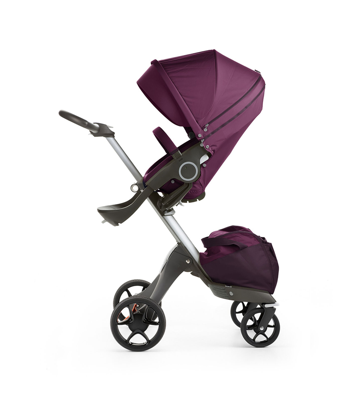 Stokke® Xplory® with Stokke® Stroller Seat, Purple. New wheels 2016.
