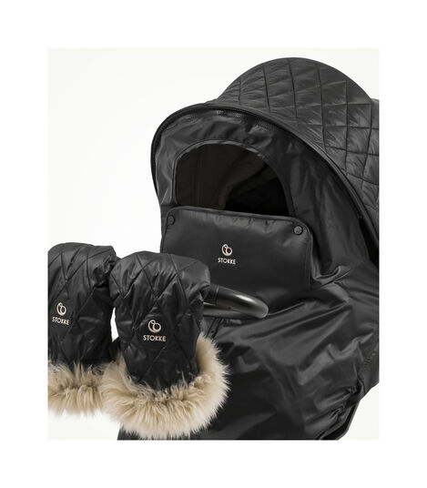 Stokke® Xplory® X with Seat and Winter Kit without Sheepskin Rim. Active. Detail. view 7