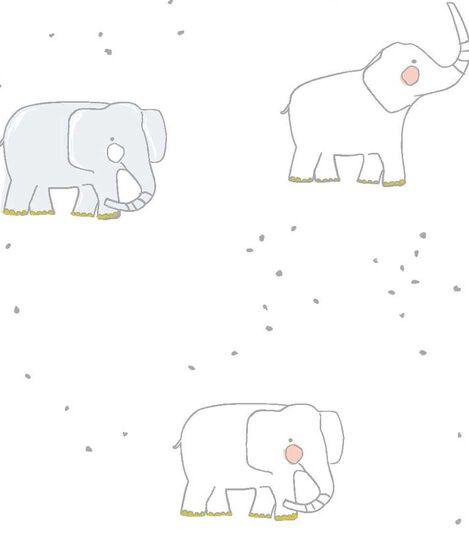 Stokke® Sleepi™ Fitted Sheet Pehr Elephant, Elephant, mainview view 3