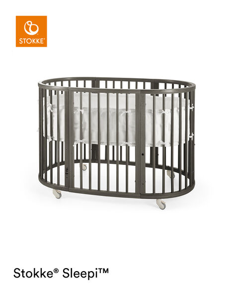 Stokke® Sleepi™ Hazy Grey. Bumper White. view 12