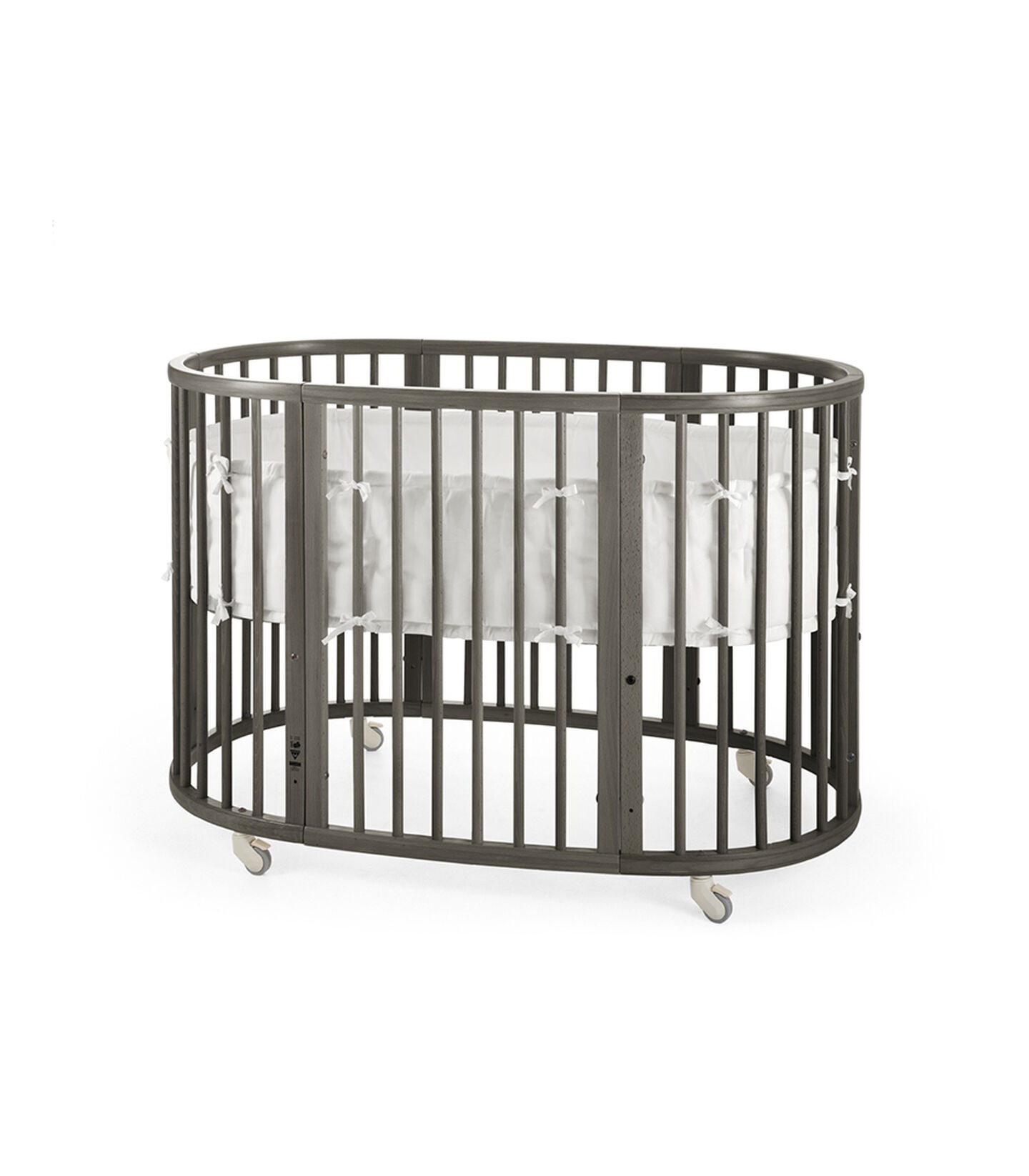 Stokke® Sleepi™ Hazy Grey. Bumper White.