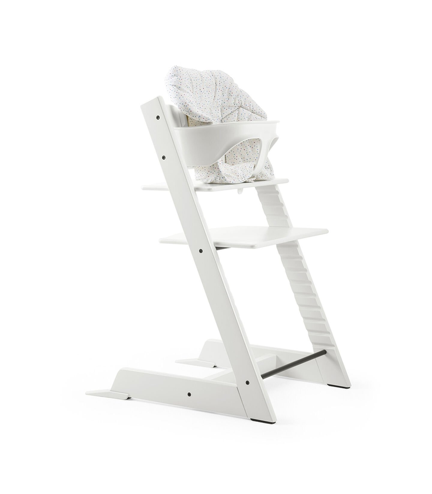 Tripp Trapp® Natural with Baby Set and Mini Baby Cushion Soft Sprinkle.