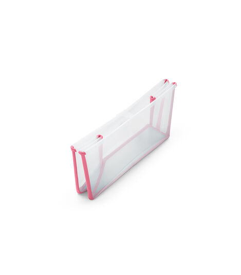 Stokke® Flexi Bath® bath tub, Transparent Pink. Folded.