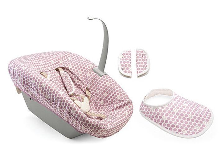 Tripp Trapp® Newborn Textile Set Purple Dots, Purple, mainview