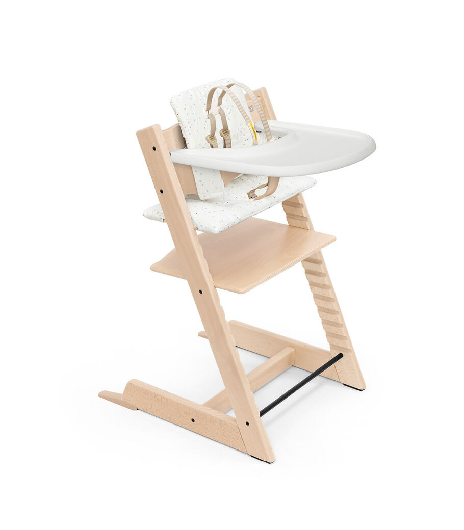 Tripp Trapp® High Chair Natural with Baby Set, Classic Cushion Sweet Hearts and Stokke® Tray. Bundle. US only.