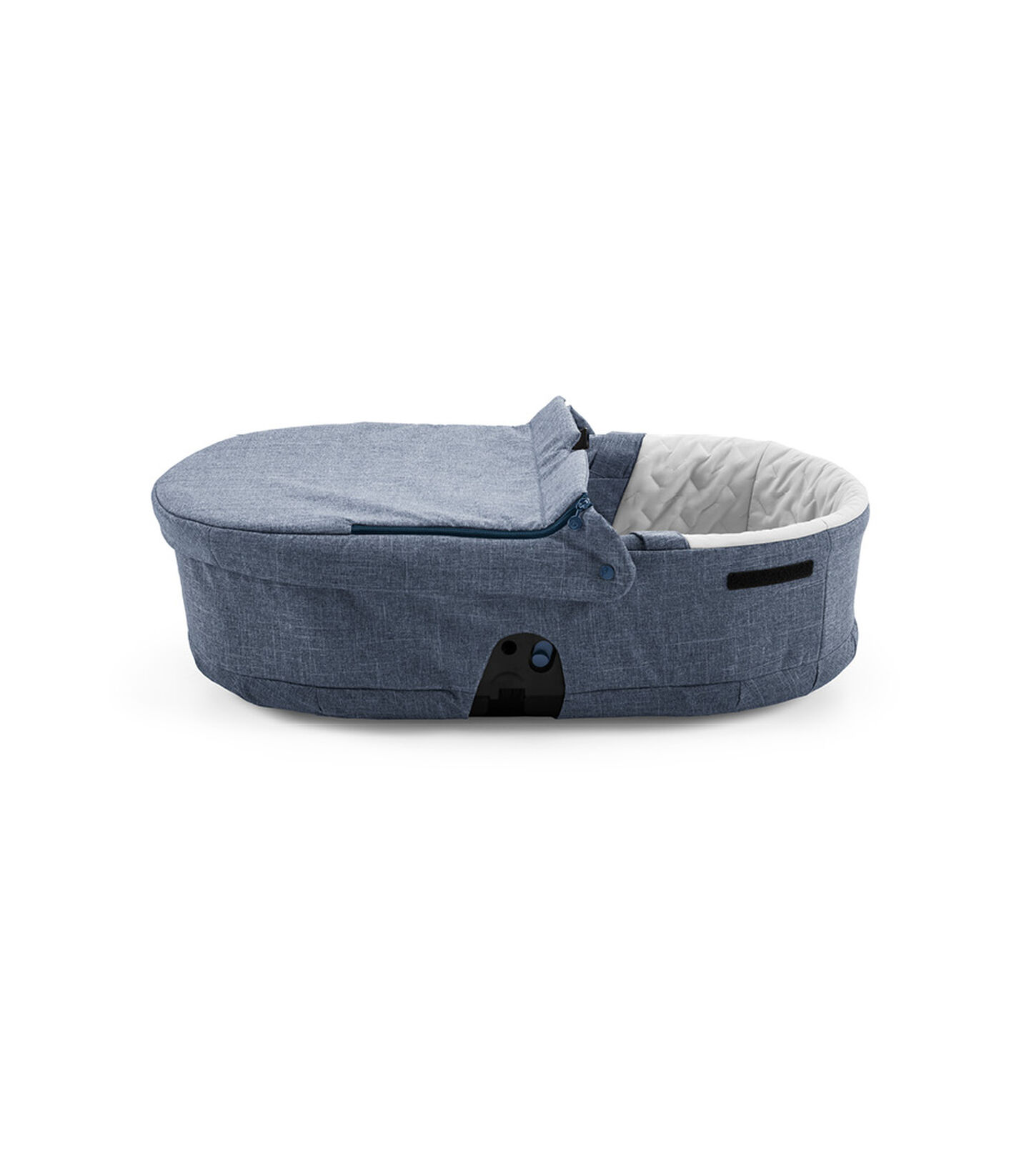Stokke® Beat™ sparepart. Carry Cot Textile, Blue Melange. view 2