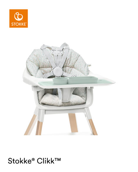ezpz™ by Stokke™ placemat for Clikk™ Tray Green, Soft Grey, mainview view 9